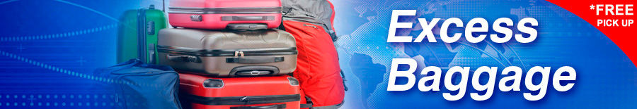 Excess baggage luggage & suitcases - PFS Australia
